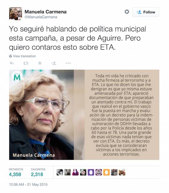 Tweet-21-mayo-Manuela-Carmena