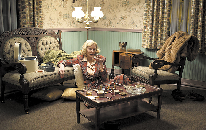 """This photo provided by The Weinstein Company shows, Cate Blanchett as Carol Aird in a scene from the film, """"Carol."""" The film was released on Friday, Nov. 20. (Wilson Webb/The Weinstein Company via AP)"""