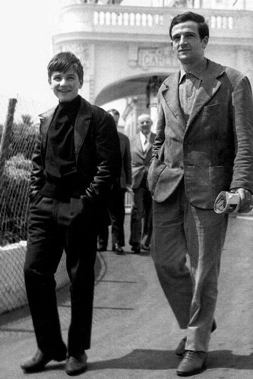 Truffaut y Jean Pierre Léaud Cannes
