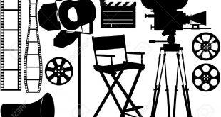 6439744-Iconos-de-silueta-de-industria-de-cine-en-el-blanco-Foto-de-archivo