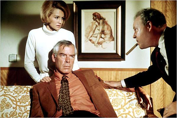 Angie Dickinson y Lee Marvin en A quemarropa