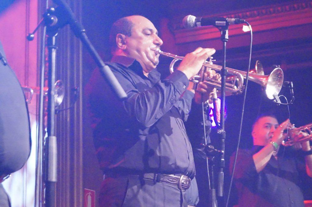 Cimai trumpet of Fanfare Ciöcarlia bcn 7-10-2016 foto bIANCA bAUST