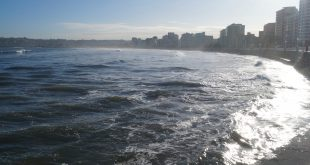 Playa de Gijón, foto de Bianca Baust. 22-11-2016
