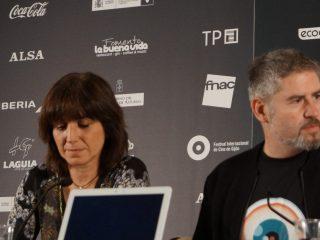 Judith Colell y Nacho Carballo en el FICX 2016, foto de Bianca Baust