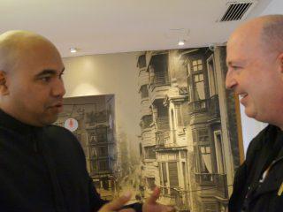 Santiago A. Zannou y José López Pérez, foto de Bianca Baust
