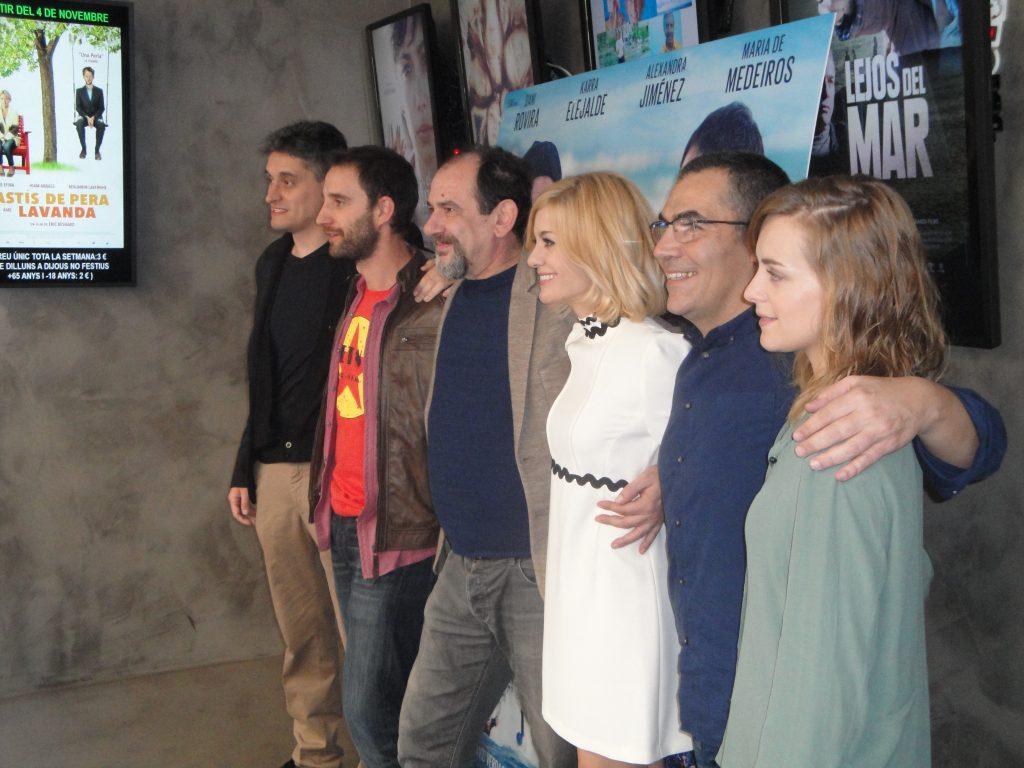 """Equipo de la película """"100 metros"""", foto de José López Pérez"""