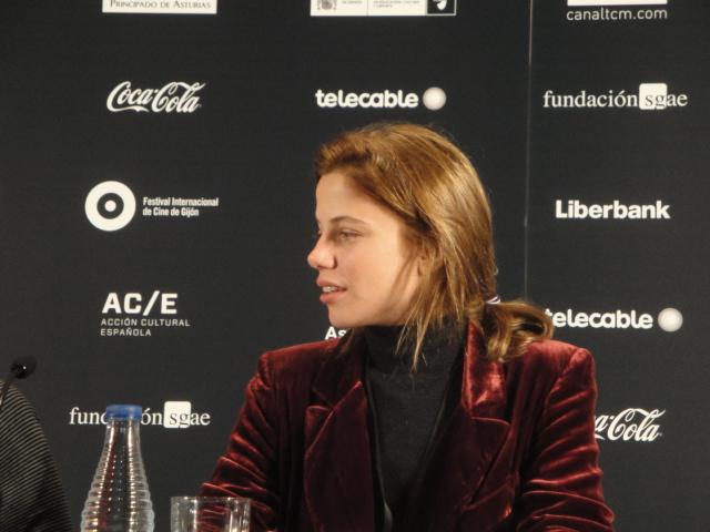 Justina Bustos en el FICX 2016, foto JLP
